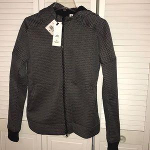 NWT Adidas zip up running jacket with hood